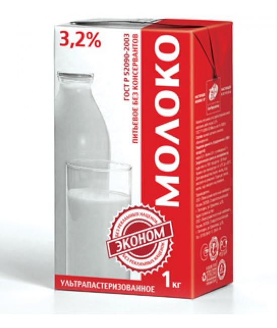 Молоко Эконом 3,2% 1л