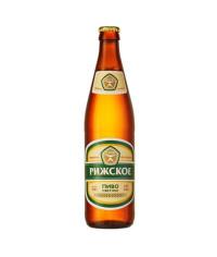 """Пиво """"Рижское"""" светлое фильтрованное пастеризованное 0.5 л."""