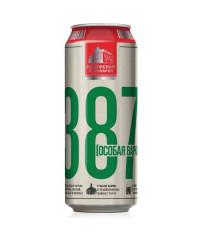 Пиво 387 Особая варка 0,5л. банка