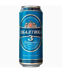 Пиво Балтика №3 0,5л. банка